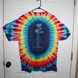Woodstock Tie dye a Day in the Garden T shirt XL